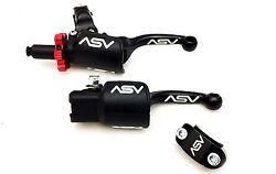ASV BLACK F3 SHORTY HOLIDAY PRO PACK CLUTCH BRAKE LEVERS DUST COVERS RAPTOR 700