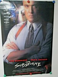 Vintage 1996 The Substitute Tom Berenger Movie Poster Double Sided 40x27