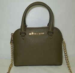 NWT Michael Kors Cindy Mini XS Leather Crossbody Purse -Olive $178