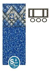 21and039 X 52 Round Manor Beaded Swimming Pool Liner For Esther Williams - 25 Gauge