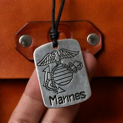 Us Marines Silver Pewter Charm Necklace Pendant Jewelry