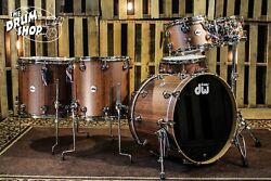 DW Collector's Set Exotic Natural Hard Satin Over Tiger Wood w/ Nickel Hardware