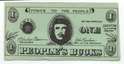 1960s Black Panther Party People's Buck Note with Image of Guevara