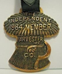 Ih The Independent Harvester Co Wheat Shock And Sickle Watch Fob Mwfci 1984 Member