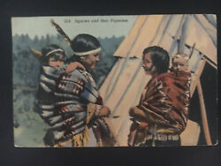 1941 St Cloud Mn Usa Picture Postcard Native American Indians Squaws And Papooses