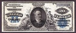 Us 1891 20 Manning Silver Certificate Fr 322 Vf-xf -830