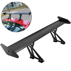 Universal Car Gt Rear 43and039and039 Aluminum Truck Lightweight Spoiler Wing Racing Black