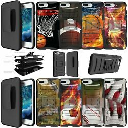 For Iphone 8 Plus 5.5 Dual Layer + Stand Holster Clip Case - Sports And Galaxy