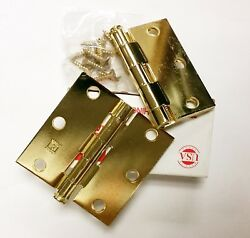 Hager 3 X 3 Full Mortise Hinges Us3 Lot 20 Total With Screws Door Brass Finish