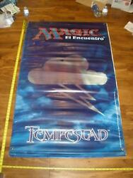 MTG Magic Tempest (Block) Stronghold Exodus Vinyl Poster Store Display 2-Sided