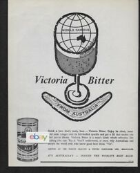 Victoria Bitter Beer Ale From Australia Indeed World's Best Beer 1964 Ad
