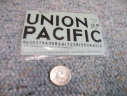 Walthers Decals O Gauge Box Car 93-26 Union Pacific Black   N58