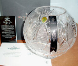 House of Waterford Love From Ireland Crystal Rose Bowl 8