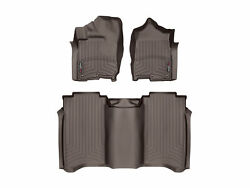 Weathertech Floorliner Mats For Nissan Titan / Xd Crew Cab 1st And 2nd Row Cocoa