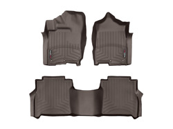 Weathertech Floorliner Mats For Nissan Titan Xd Crew Cab 1st And 2nd Row Cocoa