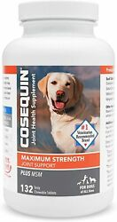 Cosequin Maximum Strength MSM Dogs All Sizes 132 Chewable Tablet NEW 04 2024 $35.95