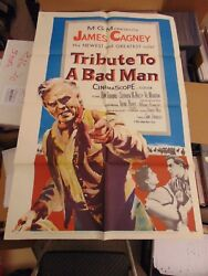 JAMES CAGNEY TRIBUTE TO A BAD MAN ORIG 27X41 MOVIE POSTER  MP119