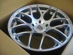 20-inch Porsche 911 Carrera 996 997 991 Ruger Forged Wheels Silver 5x130 Lugs