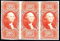 Us R98p3 20 Conveyance Strip Of 3 Proof On India Paper On Card Scv 660