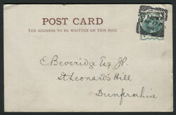Sg213 1900 Ap 17 1/2d Green Neatly Tied To A Postcard Squared Circle Rare Fdc