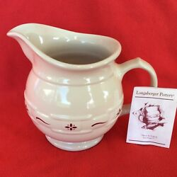 Traditional Red Woven Traditions Usa 2 Quart 64 Ounces Pitcher Longaberger