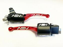 ASV Adjustable F4 Red Pair Pack Dust Covers Brake + Clutch Levers TRX KFX LTR