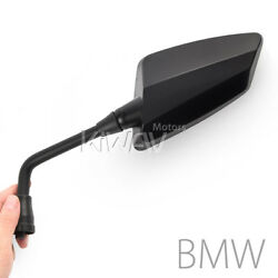 Magazi Hawk black motorcycle mirrors M10 1.5 pitch for BMW F650GS US STOCK