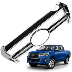 Chrome Grille Grill Cover Chrome For Toyota Hilux Revo Rocco 2018 2019