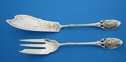 Gorham Lily Aka Lily Of The Valley Aka 88 Pickle Set Knife And Fork Circa 1870
