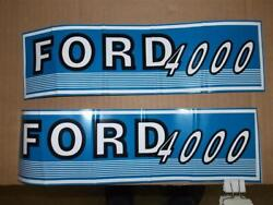 Ford Tractor Jubilee 4000 Decals. Early Round Hood. 1962-65 C- Details.