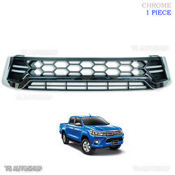 Chrome Drl Daylight Front Grille Grill For Toyota Hilux Revo Sr5 2015 2016 17