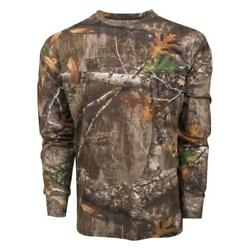 King's Camo Men's Realtree Edge Classic Cotton Long Sleeve Shirt All Sizes $18.99