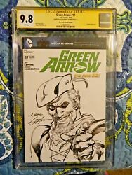 Neal Adams Signed And Sketch Green Arrow 17 Cgc 9.8