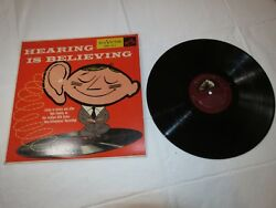 Hearing Is Believing New Orthophonic High Fidelity Rca Victor Lp Album Record