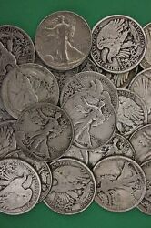 Make Offer 2 Troy Pounds Walking Liberty Half Dollars Junk 90 Silver Coins