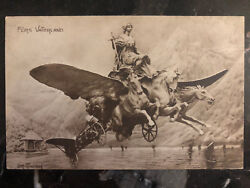 1913 Lucerne Switzerland Military Airmail Postcard Cover Flying Horses To German