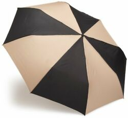 totes Auto Open Close Golf Size Umbrella  BlackBritish Tan  One Size NO TAX