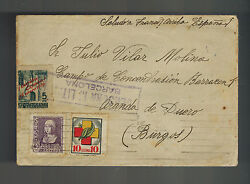 1939 Barcelona Spain To Barracon Concentration Camp Cover W Letter Julio Vilar