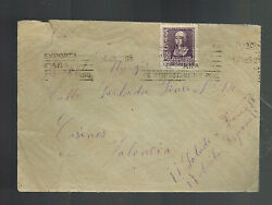 1939 Porta Coeli Spain Cover Concentration Camp To Valencia With Letter