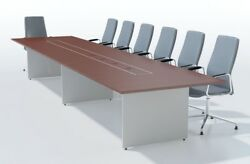 Uk Made Sven Ambus Two Tone Boardroom Conference Meeting Table 2000mm To 5000mm