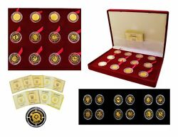 2006-7-8 Bank Of Ukraine 12 Pc Set 999 Proof Gold Zodiac Sign Coins 2 Hryvnia