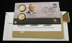 Sealed In P52 Package 2014 P/d Roosevelt Presidential Dollar 1st Day Coin Cover