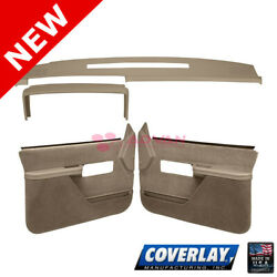 Medium Brown Interior Accs. Kit 18-606c37f-mbr For C1500 Pickup Front - Coverlay