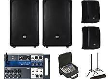 2x RCF HD 12-A MK4 Active Speaker w Covers + Soundcraft Ui12 w Bag + Stands