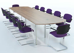 Meeting / Boardroom / Conference Bow End Table 4000 X 1200mm 4m Finish Choice