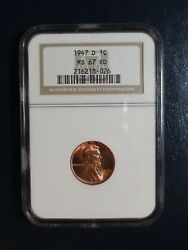 1947 D Lincoln Wheat Cent Ngc Ms67 Red Gem 1c Coin Priced To Sell Quickly