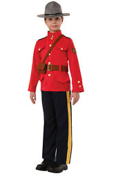 Royal Canadian Police Officer Mountie Child Costume (L)