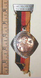 1972 Germany Tv Weiher Olympics Medallion Discus Olympia Medal Volkslauf Run