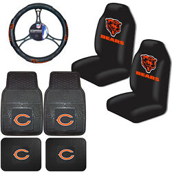 Nfl Chicago Bears Car Truck Seat Covers Floor Mats And Steering Wheel Cover