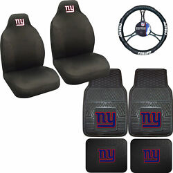 Nfl New York Giants Car Truck Seat Covers Floor Mats And Steering Wheel Cover